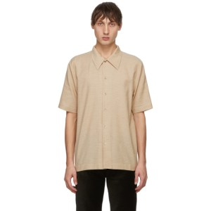 Sefr Beige and Brown Office Check Suneham Shirt