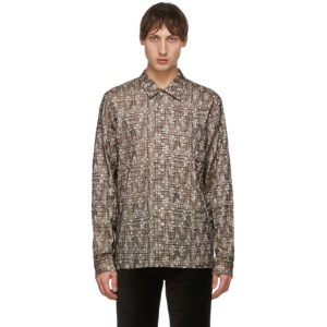 Sefr Beige and Brown Embroidered Sense Shirt