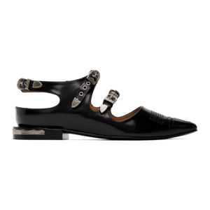 Toga Pulla Black Buckle Oxfords