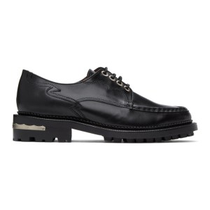 Toga Pulla Black Treaded Lace-Up Derbys