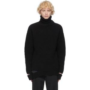 System Black Wool Turtleneck