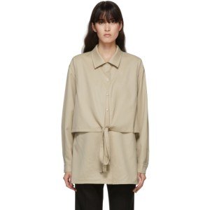LE17SEPTEMBRE Beige Wool Layered Blouse