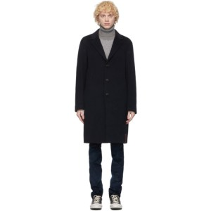 PRESIDENTs Navy Wool Egg Coat