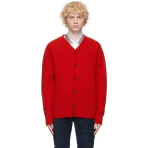 PRESIDENTs Red Self Edge Cardigan