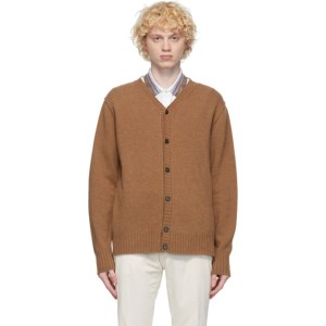 PRESIDENTs Brown Self Edge Cardigan