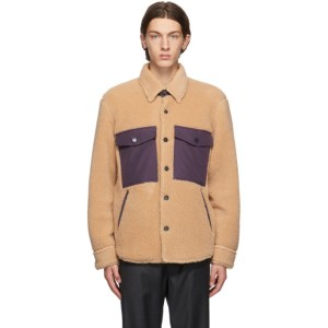 PRESIDENTs Beige Fleece Tousled Shaggy Jacket