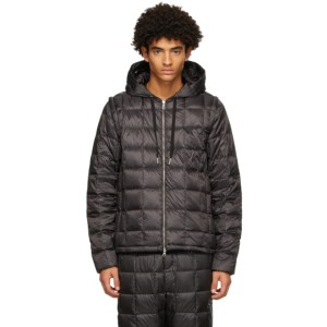 TAION Black Down Heated Hoodie EXTRA Jacket