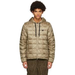 TAION Khaki Down Heated Hoodie EXTRA Jacket