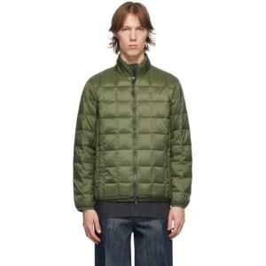 TAION Green Down Basic U-Neck Puffer Jacket