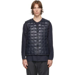TAION Reversible Navy and Black Zip Vest