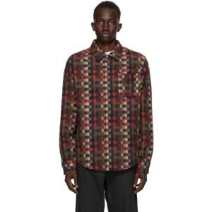 4SDESIGNS Multicolor Wool Check Shirt