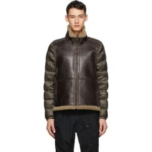 Ten c Brown Shearling Liner Jacket