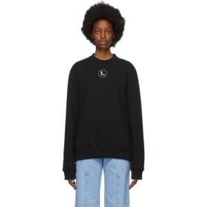 Lourdes Black Logo Sweatshirt
