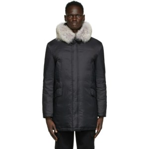 Yves Salomon - Army Black Fur Hooded Parka