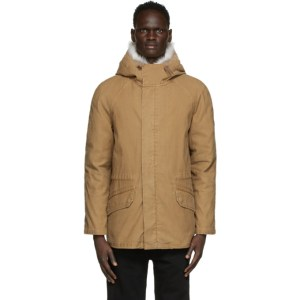 Yves Salomon - Army Brown Down and Fur Jacket