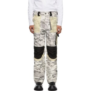 ADYAR SSENSE Exclusive Black and White Utility Cargo Pants