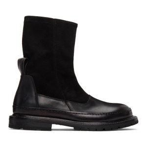 ADYAR SSENSE Exclusive Black Suede Trady Chelsea Boots