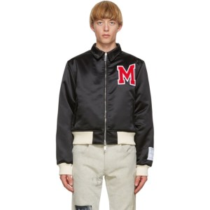 Mr. Saturday Black Nylon Stranger Bomber Jacket
