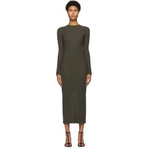 DRAE SSENSE Exclusive Khaki Open Back Dress