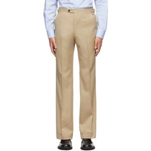 Husbands Off-White Wool Trousers