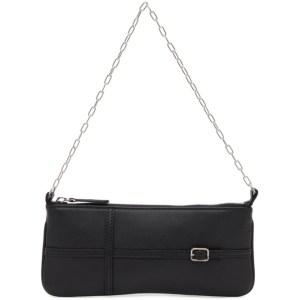 Abra Black Belt Baguette Bag
