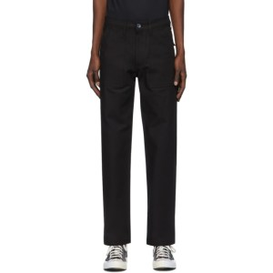 Naked and Famous Denim Black Canvas Work Pant Trousers