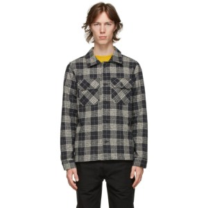 Naked and Famous Denim Grey Check Work Shirt