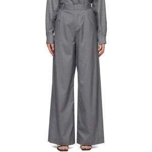 Bureau De Stil Grey Wide-Leg Trousers