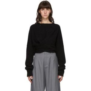 Bureau De Stil Black Waist Wrap Sweater