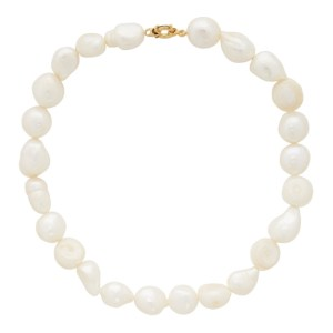 1064 Studio White Pearl Choker Necklace