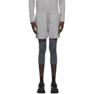JACQUES Grey Three-Quarter Compression Shorts