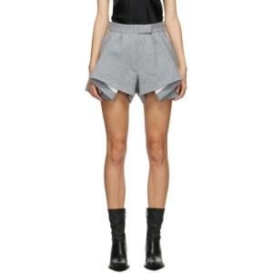 Haider Ackermann Grey Savoia Drape Shorts