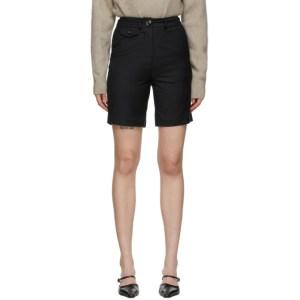 Anna Quan Black Wool Patsy Shorts