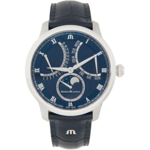 Maurice Lacroix Blue Masterpiece Moon Retrograde Watch