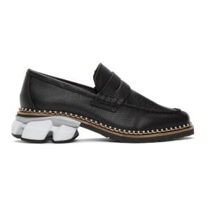 Miharayasuhiro Black Snake Sneaker Sole Loafers