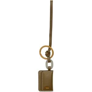 Jacquemus Khaki Le Porte Cle Riviera Keychain