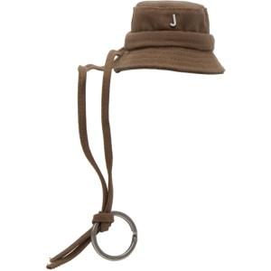 Jacquemus Brown Le Mini Bob Bucket Keychain