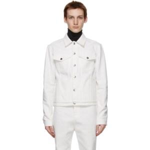 Carlota Barrera White Denim Jacket