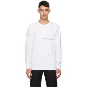 Museum of Peace and Quiet White MoPQ Long Sleeve T-Shirt