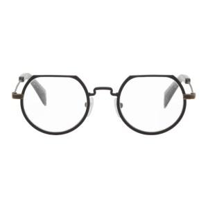Yohji Yamamoto Black Matte Round Glasses