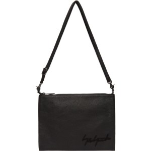 Yohji Yamamoto Black Signature Logo Crossbody Bag