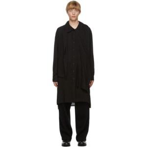 Yohji Yamamoto Black Collar Stall Shirt