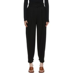 Blossom Black Lux Belted Trousers