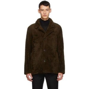 Yves Salomon Reversible Brown Shearling Coat