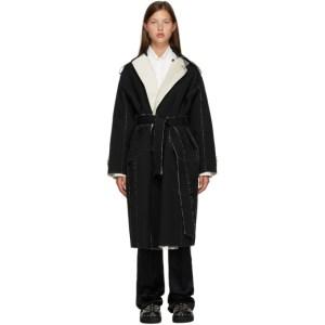 Toga Black Wool Trench Coat