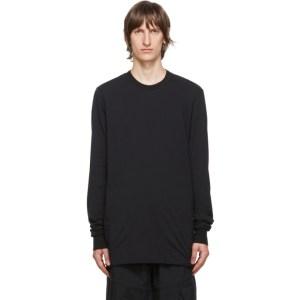 11 by Boris Bidjan Saberi Black Cotton Dye T-Shirt
