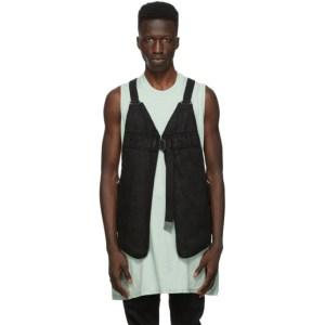 Boris Bidjan Saberi Black Vinyl Cotton Bag 2 Vest