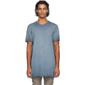 Boris Bidjan Saberi Blue Resin-Dyed T-Shirt