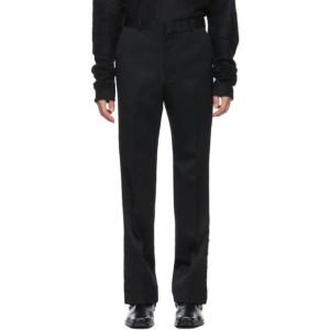 Johnlawrencesullivan Black Slited Trousers