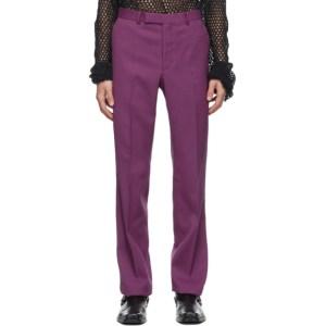 Johnlawrencesullivan Pink Wool Straight Trousers
